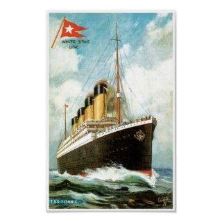 RMS TSS Titanic Passenger Ship Posters