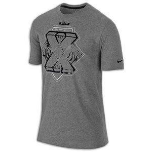 Nike Lebron X T Shirt   Mens   Basketball   Clothing   Charcoal