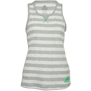adidas Climasport Striped Tank   Womens   Training   Clothing   White