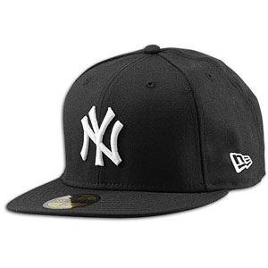 New Era MLB 59Fifty Black & White Basic Cap   Mens   Yankees   Black