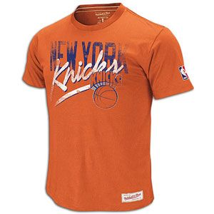 Mitchell & Ness NBA Pre Game Vintage T Shirt   Mens   Knicks   Orange