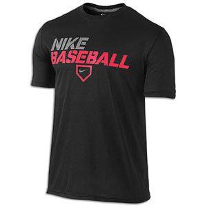 Nike Core Legend T Shirt   Mens   Baseball   Clothing   Black/Carbon