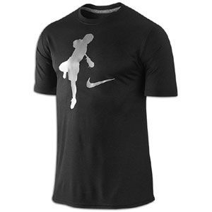 Nike LAX Blue Chip Legend T Shirt   Mens   Black/Carbon Heather