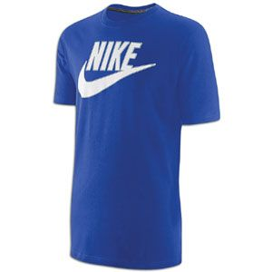 Nike Futura S/S T Shirt   Mens   Casual   Clothing   Old Royal/White