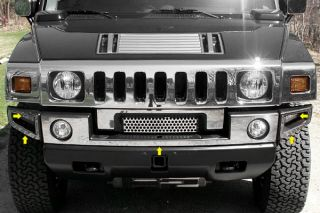 03 09 Hummer H2 Front Bumper Cover Mirror Polished Truck SUV Chrome