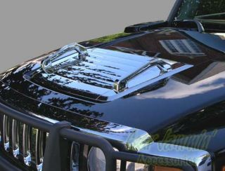 2006 2010 Hummer H3 Chrome Finish Front Hood Vent with Handles