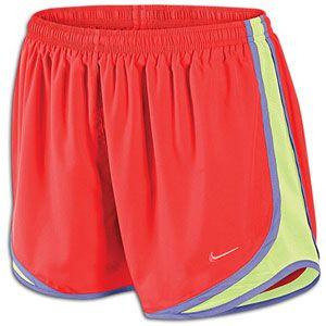 Nike Dri Fit Tempo Short   Womens   Bright Crimson/Barely Volt/Med