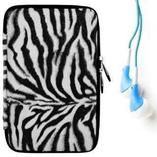 (Black White Zebra) VG Animal Print Carrying Case with