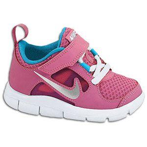 Nike Free Run 3   Girls Toddler   Fusion Pink/Neo Turquoise/Metallic