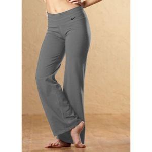 Nike Regular Dri Fit Cotton Pant   Womens   Dark Grey Heather/Black