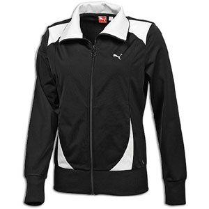 PUMA Poly Track Jacket   Womens   Casual   Clothing   Black/White