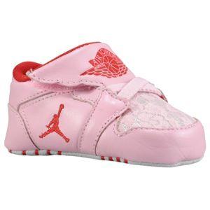 Jordan 1st Crib   Girls Infant   Basketball   Shoes   Ion Pink/Gym