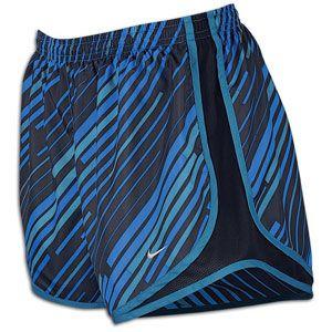 Nike Print Tempo Short   Womens   Photo Blue/Dk Obsidian/Shaded Blue