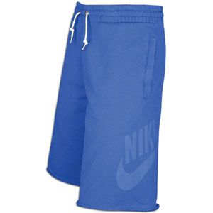 Nike Washed Fleece Short   Mens   Casual   Clothing   Game Royal