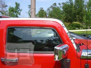 Hummer H3 Upper Roof Trim Kit Stainless Steel Chrome