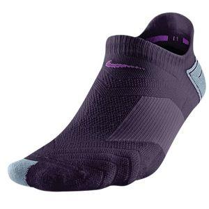 Nike Dri Fit Elite Run Cushion No Show Sock   Womens   Grand Purple