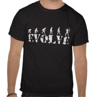 Archery Bow Arrow Evolution Darwin Theory T shirts