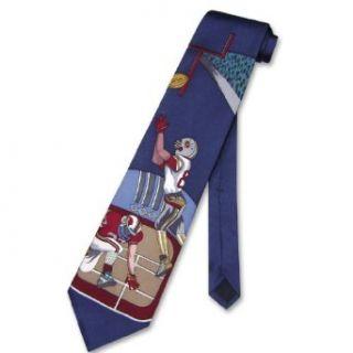 100% SILK NeckTie Football Design Mens Neck Tie #124 4 Clothing