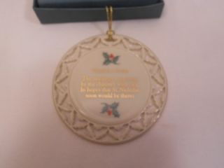 Lenox Christmas Ornament Xmas Stocking Hung Night Before Christmas 3rd