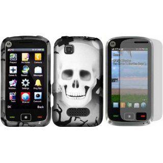 White Cross Skull Design Hard Case Cover+LCD Screen