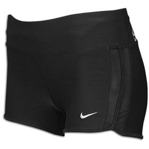 Nike 2 Boy Short   Womens   Running   Clothing   Black/Matte Silver