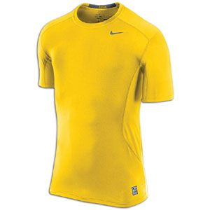 Nike Pro Combat Core Fitted 2.0 S/S   Mens   Varsity Maize/Cool Grey