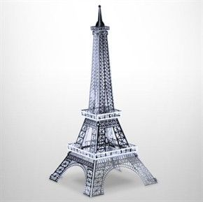 Laser Cut Metal Miniature Model Kit Eiffel Tower Free US SHIP