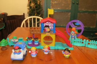 PRICE LITTLE PEOPLE PLAYGROUND PARK PLAYSET W SOUNDS FERRIS WHEEL LOT