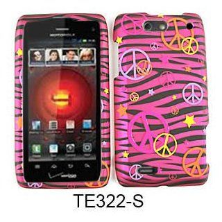 For Motorola Droid 4 XT894 Case Cover   Peace Signs Pink
