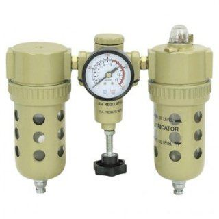 125 PSI FRL Air Regulator, 3/8 18 NPT: Home Improvement