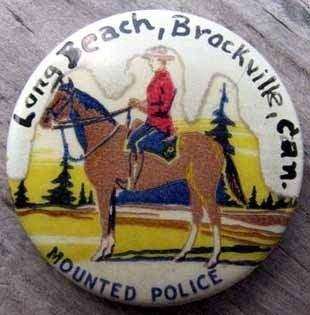 Early Canadian Mounted Police Pin L K A547