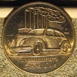 RARE Original 1940 Ford Advertising Medal or Token L K A977