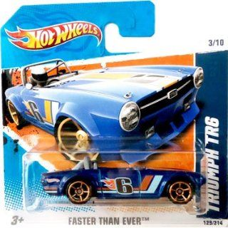 2010 Hot Wheels [Blue] TRIUMPH TR6 #129/214, Faster Than