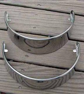 Large Stainless Steel Wrap Around Head Light Visors
