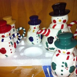 Temp tations Snowman Tea Pot Sets