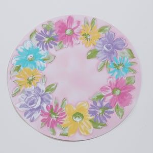 Floral Hydrangea Easter Spring Vinyl Placemats UPic
