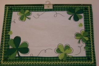 St Patricks Day Placemats Clover 3 Styles U Pick New