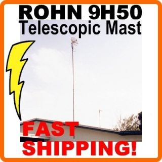 Rohn 9H50 34 Foot Telescopic Push Up TV Antenna Mast