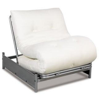 Solo Fold Out Chair Bed Metal Frame Silver Finish Optional Mattress