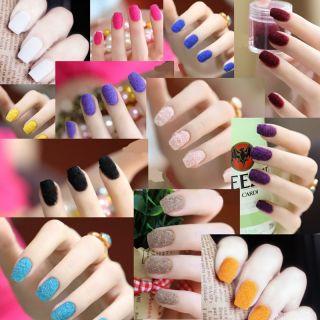 Velvet Flocking Powder Velvet Manicure Nail Art Polish Tips Hye