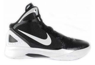 Nike Zoom Hyperdunk 2011 TB Sz 8 Mens Basketball Shoes Black/White