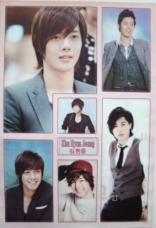KIM HYUN JOONG COLLAGE OF 6 SHOTS ASIAN POSTER   SS501,BOYS OVER