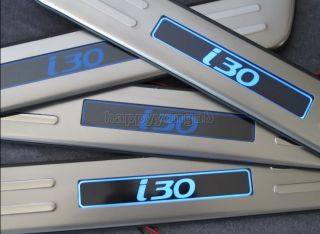Protectors for Hyundai I30 LED Door Sill Protectors Stainless Steel