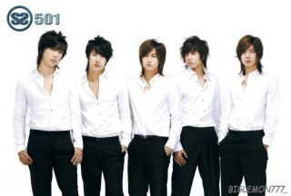 SS501 Boy Band Poster 4 Kim Hyun Joong Kim Kyu Jong