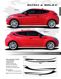 For Hyundai Veloster Relay Graphics Kit EE1935 Decals Trim Emblems