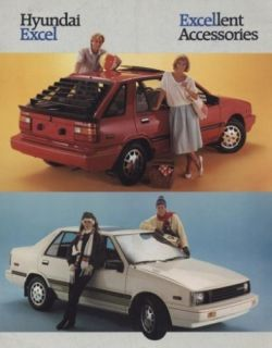 1987 Hyundai Excel Accessories Sales Brochure Book