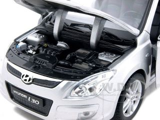 Hyundai I30 Silver 1 24 Diecast Model Car