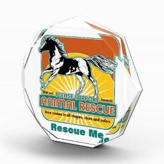 Animal Rescue Horse Acrylic Award