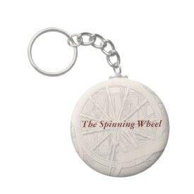 Antique Spinning Wheel Arts Crafts Keyring keychain