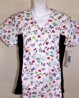 Love Always Slimming Scrub Top s Small Nursing Scrubs New